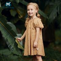 【2件3.8折】你巴拉巴拉女童连衣裙2019夏款新品轻薄印花儿童宝宝宽松裙子