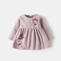宝宝冬装裙子加绒女童2018新款洋气连衣裙儿童装婴儿秋冬季公主裙