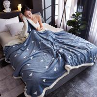 婴儿小毯子儿童毛毯双层加厚冬季宝宝云毯小被子幼儿园拉舍尔盖毯