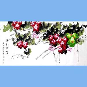 中国美协会员,中国书协会员,龙云书画院院长候桂峰(珠玉满堂)1