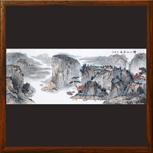 《得山水清气》唐业强R5196 1.8米名家手绘山水画