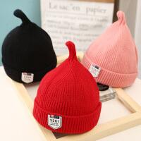 儿童毛线帽秋冬亲子帽尖尖奶嘴帽针织宝宝帽子