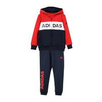 adidas阿迪达斯童服小童针织套装男童加绒休闲运动服DX5053