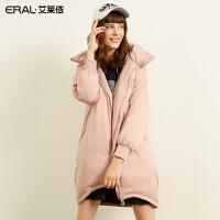 艾莱依2018商场同款设计韩版修身加厚羽绒服女长款外套601801236