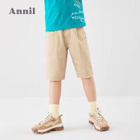 【2件3折价:59.7】安奈儿童装男童中裤2020夏装新款洋气中大童直筒短裤学生五分裤子