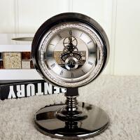欧式家居装饰品实用软装饰品静音座钟表摆设客厅卧室装饰时钟摆件