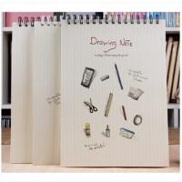 大号空白纸笔记本子8K速写绘画素描本涂鸦本设计学院手绘记事本