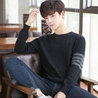 男士毛衣秋冬季2018新款韩版潮流圆领套头针织衫长袖修身线衣男装