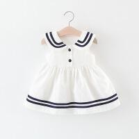 童装女童连衣裙夏季婴儿童海军风公主裙子0一1-3岁小女孩宝宝夏装
