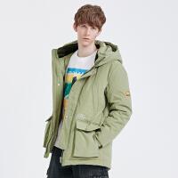 2.5折价:400;Lilbetter男士羽绒服短款国潮工装服夹克冬季外套2019新款羽绒衣