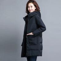 女中长款2019韩版宽松棉袄冬季外套加厚棉衣 M 建议85-100斤