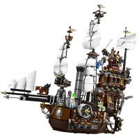 【品质好货】加勒比海盗船模型组装黑珍珠号帝国战舰兼容乐高拼装积木拼插玩具