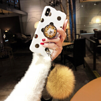 �r尚潮牌�O果xs max手�C�づ�款7p冬季毛�qiPhone8plus毛球�炖K�O果x硅�z���xr新款6 i6/6s 4.7