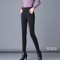加长打底裤女外穿高个子超长秋冬加绒小脚铅笔高腰黑色加长版长裤