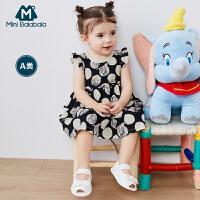 迷你巴拉巴拉婴儿连衣裙2020夏装新款小飞象IP男女宝宝公主裙可爱