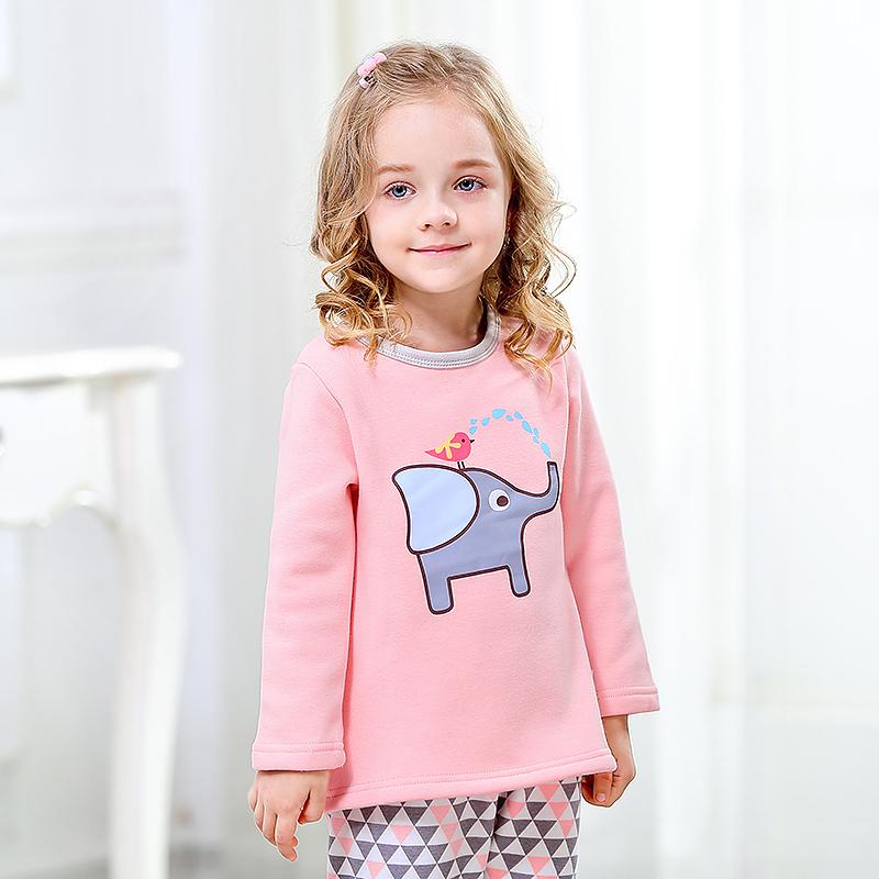 儿童秋衣秋裤婴儿内衣加绒秋冬宝宝保暖衣套装女孩