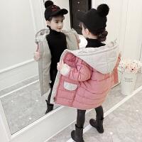 儿童棉衣2018新款中长款女孩冬季棉服加厚外套