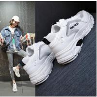 运动鞋女韩版网红同款休闲鞋新款低帮老爹鞋增高小白鞋厚底学生单鞋