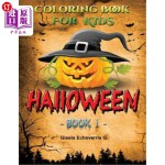 【中商海外直订】HALLOWEEN For Kids Book 1: Thematic Coloring Books