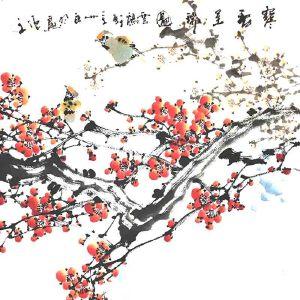 青年实力派画家,被授予陶瓷工艺美术大师,景德镇青年画院院长白羽(寒香呈瑞图)