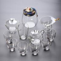 家用玻璃组合功夫茶具套装简约透明泡茶器耐热玻璃茶杯日式煮茶壶
