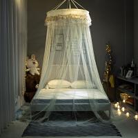 吊顶纹账吸顶圆顶蚊帐公主风双人家用蚊帐1.5m1.8米床免安装