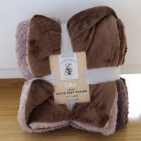 欧式双层毛毯被子加厚冬季法兰绒单双人宿舍午休空调毯床尾沙发毯