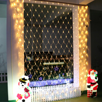 LED网灯彩灯闪灯串灯渔网灯圣诞节日灯串装饰窗帘灯网状彩灯