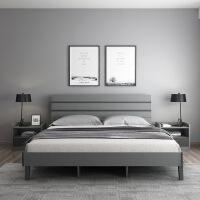 【限时直降 质保三年】现代简约床北欧主卧储物床小户型双人床1.5/1.8m出租房板式床