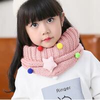 儿童毛线围巾冬季围脖韩版潮糖果色女童宝宝保暖脖套秋冬小女孩
