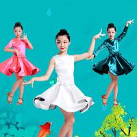 秋冬儿童拉丁舞裙演出服新款女童练功服比赛考级表演服长袖舞蹈服