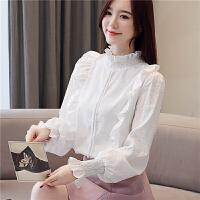 白色衬衫女春季长袖雪纺衬衣女韩版百搭宽松上衣打底洋气小衫