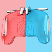 吃鸡套装 游戏手柄手游辅助器安卓苹果专用食鸡物理六指站场握把外设套装神奇装备透视挂一体式。