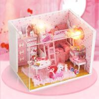 Kitty 公主房diy小屋 儿童手工制作娃娃屋 创意情人生日礼 Kitty 公主房