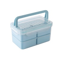 塑料冰箱保�r盒微波�t�盒 �L方形密封盒食品便��盒收�{盒