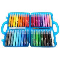 Maped马培德36色丝滑炫彩棒 旋转式水溶性油画棒蜡笔塑盒836136,内赠送毛笔刷一支+喷雾管一个