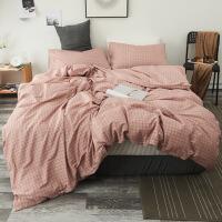 北欧简约棉四件套床上用品全棉4件套床单被套学生宿舍套件 1.5m床笠 被套200*230cm床笠150*2