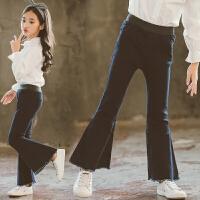 女童牛仔裤春秋韩版2018新款时尚休闲喇叭裤秋季洋气儿童长裤子潮