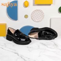 索菲娅2020春季新款时尚英伦风女鞋低跟单鞋女SF01111261