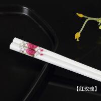 陶瓷筷子家用防滑骨瓷耐高温不发霉欧式酒店环保餐具套装