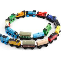 木制托马斯小火车头套装磁性轨道木质儿童滑行玩具车大号3岁