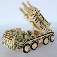 创意男童儿童益智立体拼图7-10岁小学生男孩子玩具拼装车木制模型