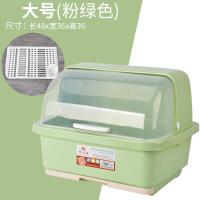 新款塑料碗柜厨房沥水碗架放碗碟架带盖碗筷餐具收纳盒碗盘置物架