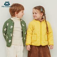 【2件3折�r:89.7元】迷你巴拉巴拉�和�棉服男女童棉�\冬�b新款童�b����印花棉衣