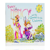 英文原版 Fancy Nancy and the Quest for the Unicorn 含超过30张贴纸 爱幻想