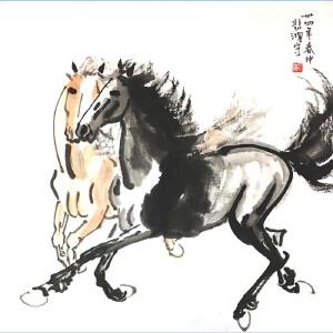 现代著名画家,美术教育家,建国后中央美术学院院长,中华全国美术工作者协会主席徐悲鸿(马)