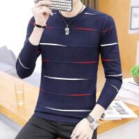 男士长袖T恤男秋季薄款毛衣体恤韩版圆领针织打底衫潮流秋装衣服
