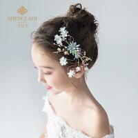 儿童头饰发夹可爱唯美拍照森女韩式女孩头花饰品发卡