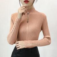 时尚打底衫内搭半高领长袖短款套头紧身针织衫修身毛衣女秋冬