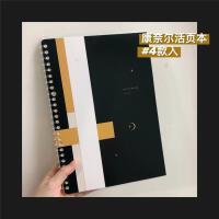 B5笔记本子轻薄可拆卸康奈尔替芯空白本线圈本活页夹环纸透明烫金